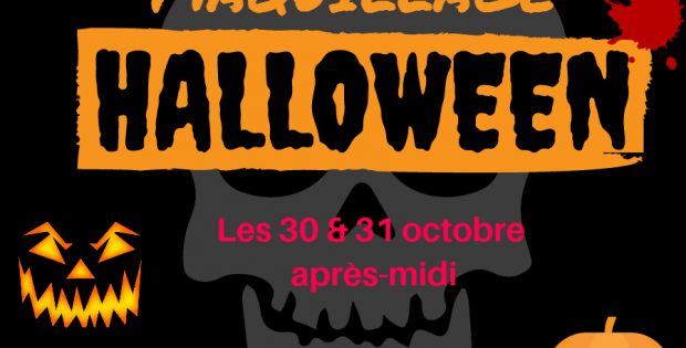Animation maquillage d' Halloween