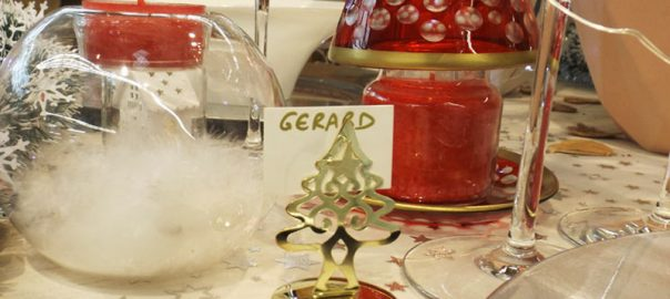 Décoration table de Noël