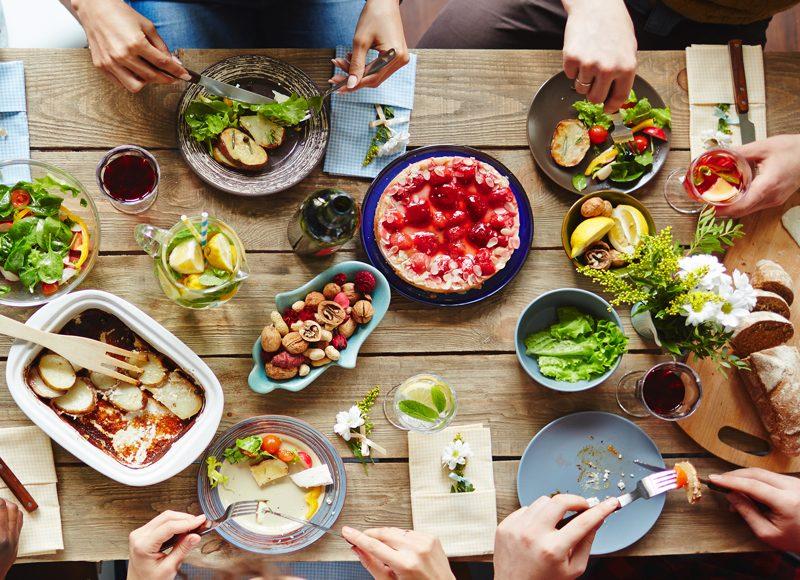 Un repas conviviale