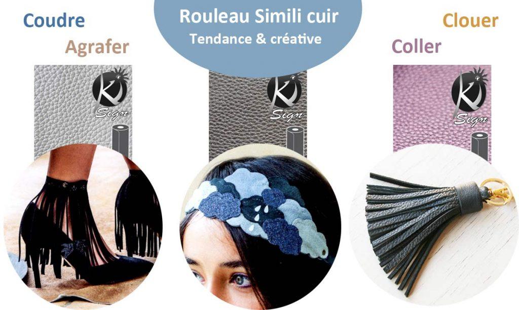 Accessoires en simili cuire à faire sois même
