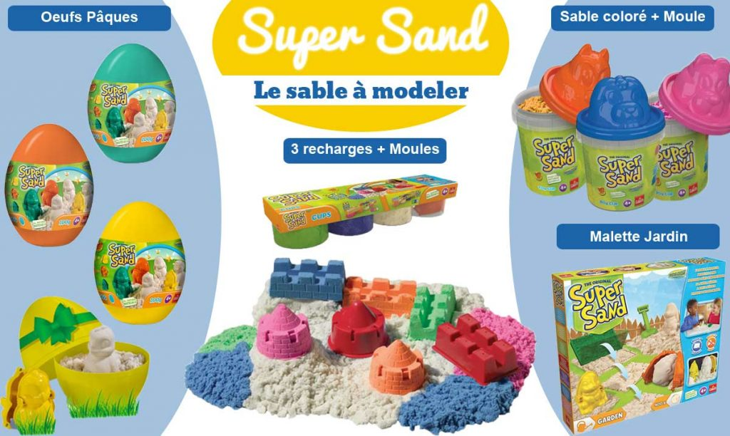 Super Sand : le sable à modeler !