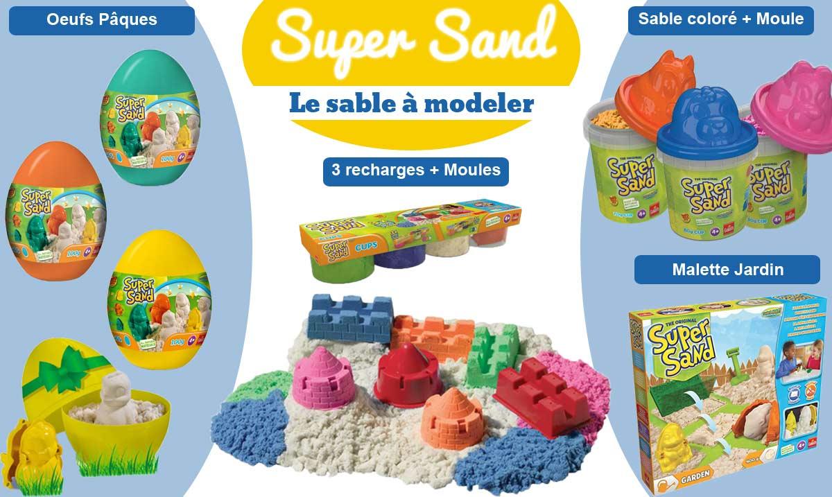 le sable modeler de toutes les couleurs au comptoir du jardinier. Black Bedroom Furniture Sets. Home Design Ideas