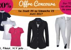 Promotion vêtements de concours équitation