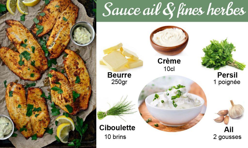 Recette sauce pour poisson