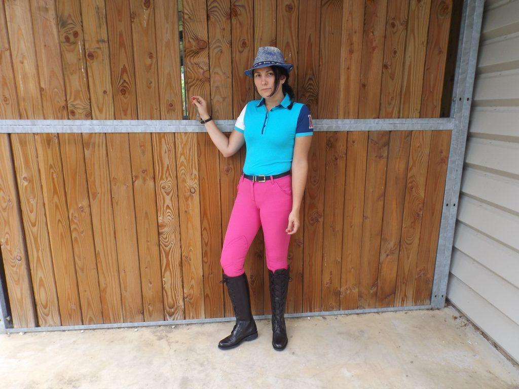 Tenue d'équitation colorée