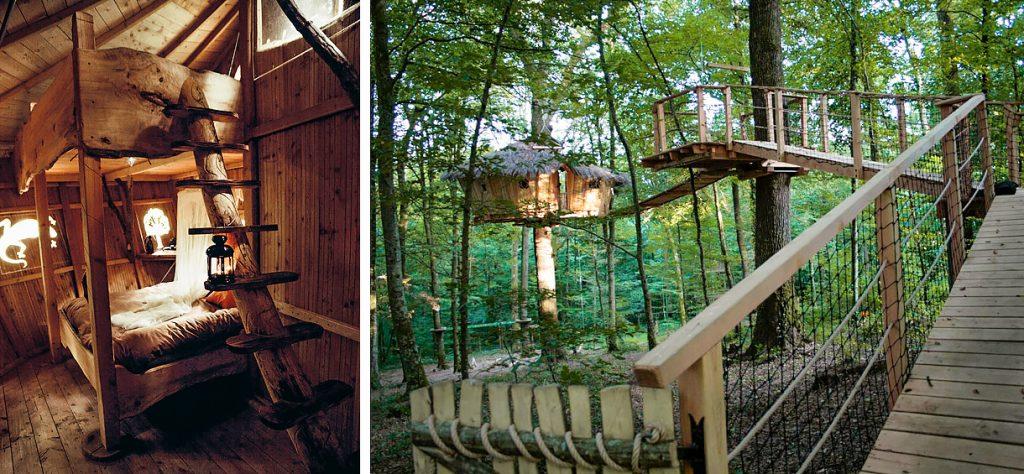 Cabanes perchées dans les arbres
