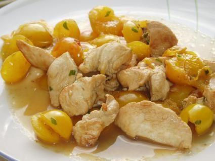 émincés de poulet à la mirabelle