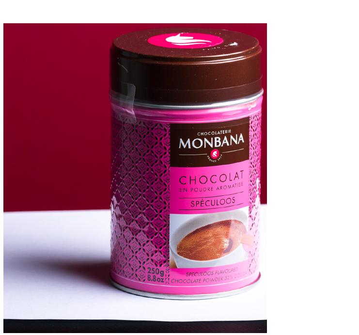 Chocolat-en-poudre-Monbana-saveur-Spéculoos