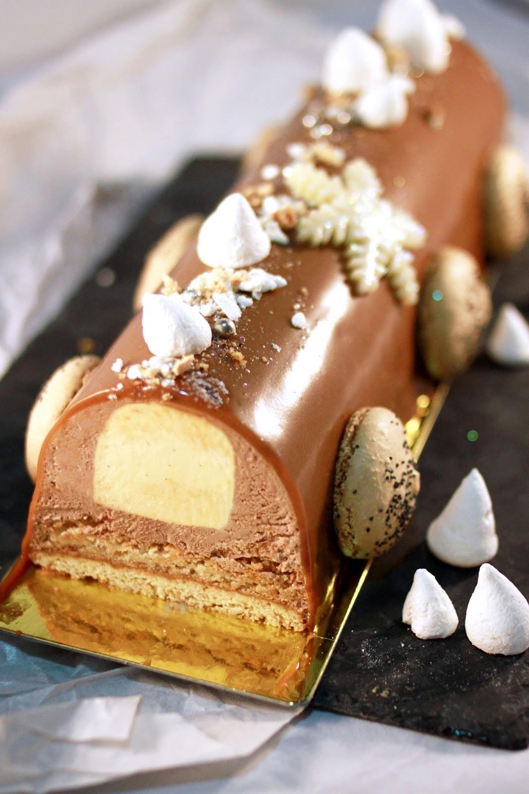 Recette buche de noel noisette chocolat caramel