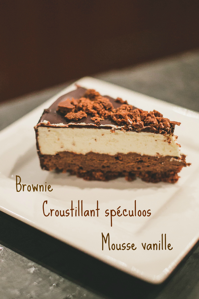 entremets brownie