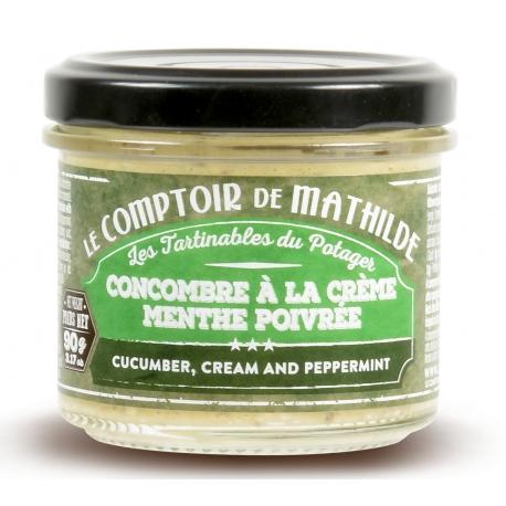 concombre à la crème menthe poivrée