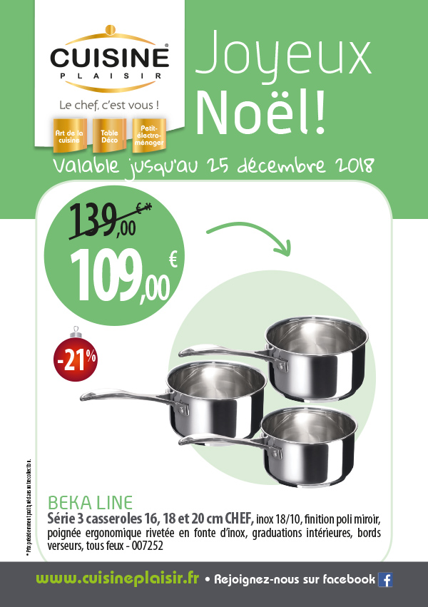Promotion Cuisine Plaisir 2018